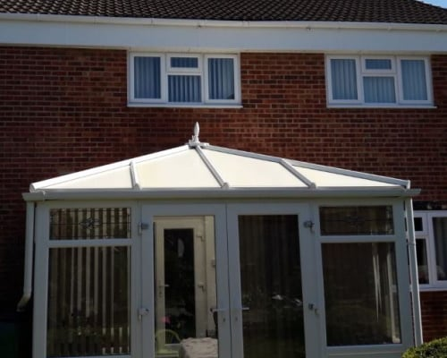 Conservatory, soffit and fascias after