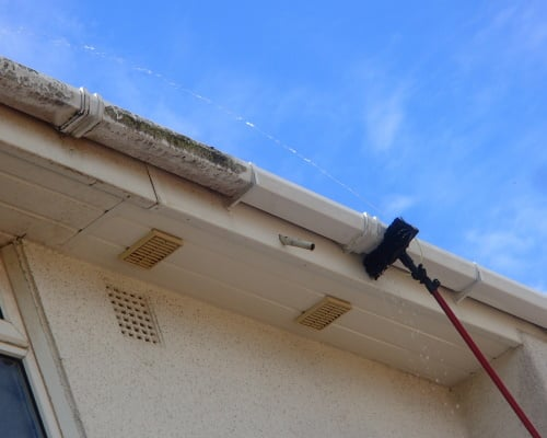 Gutter, soffit and fascia washing